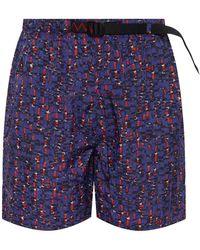 Nike 'acg' Patterned Shorts - Purple