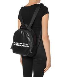 DIESEL 'f-bold Back' Logo-printed Backpack Black