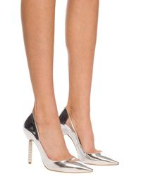Sophia Webster 'coco' Court Shoes Silver - White