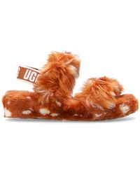 UGG 'oh Yeah' Fur Sandals Orange