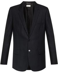 Saint Laurent Striped Blazer - Black