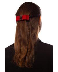 Ferragamo Hair Clip - Red