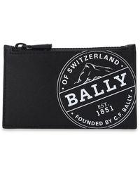 Bally 'babe' Card Holder With Logo - Black
