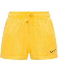 Nike Double-layer Shorts With Logo Yellow