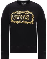 Versace Jeans Couture - Logo-embroidered Sweatshirt - Lyst