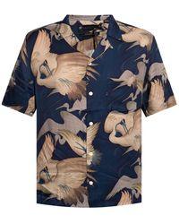 AllSaints 'wader' Patterned Shirt - Blue
