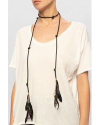 DSquared² Leather Necklace - Black