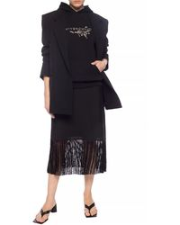 Burberry Fringed Skirt Multicolor - Black