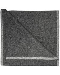 KENZO Cashmere Scarf With Logo - Grey