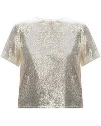 Rag & Bone Gia Sequin Viscose Top Classic Fit T-shirt - Metallic
