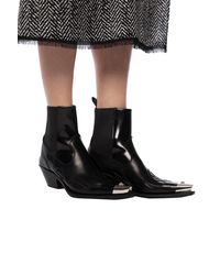 Versace Heeled Ankle Boots With Medusa Head Black