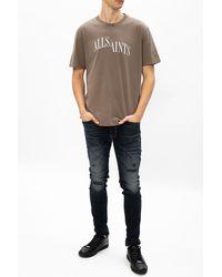 AllSaints 'dropout' T-shirt With Logo - Green
