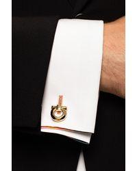 Ferragamo Cufflinks With Logo - Metallic