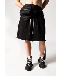 Rick Owens DRKSHDW Belt Bag With Logo - Black