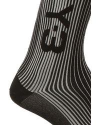 Y-3 Socks With Logo - Black