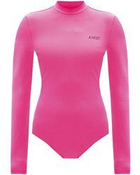 Kirin Logo Bodysuit Pink