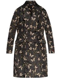 Undercover Patterned Oversize Coat - Black