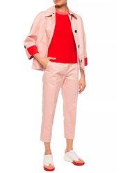 Marni Jacket With Turn-up Cuffs Pink