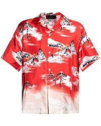 Amiri - Short-sleeved Shirt Red - Lyst