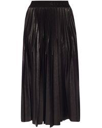 Givenchy - Logo Waistband Pleated Midi Skirt - Lyst