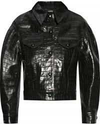 Chloé Leather Jacket - Green
