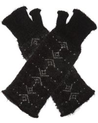 Saint Laurent Fingerless Gloves Black