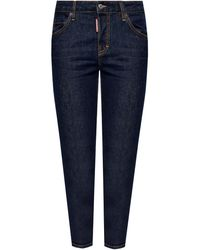 DSquared² 'cool Girl Jean' Jeans With Logo - Blue