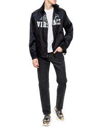 Versace Drawstring Jacket Black