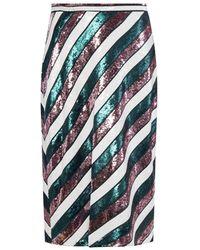 Diane von Furstenberg Sequinned Skirt - Multicolour