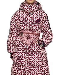 Dolce & Gabbana Patterned Belt Bag With Logo Burgundy - Red