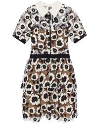 Self-Portrait - Openwork Dress With A Floral Motif - Lyst