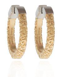 Maison Margiela Brass Earrings Women's Gold - Metallic