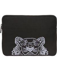 KENZO Embroidered Tiger Head Tablet Case - Black