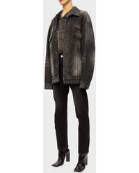 Balenciaga Oversize Denim Jacket - Gray