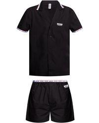 Moschino Two-piece Pyjamas Black