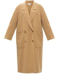 Michael Kors Double-breasted Wool Coat - Natural