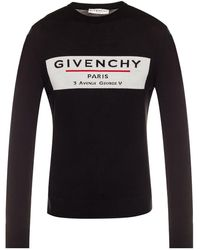 Givenchy Label Motif Sweater - Black