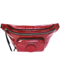 Fendi Patched Patterned Belt Bag - Red