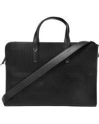 Fendi - Logo-embossed Briefcase - Lyst