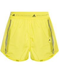 adidas By Stella McCartney Shorts With Logo - Yellow