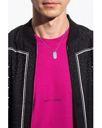 Saint Laurent Necklace With Pendant - Metallic