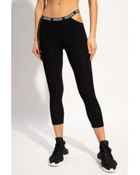 DSquared² Leggings With Logo - Black