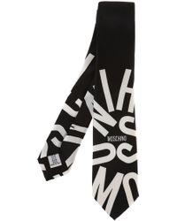 Moschino - Logo-printed Tie - Lyst