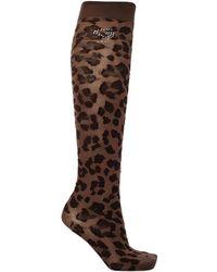 Ganni - Knee-high Socks Brown - Lyst