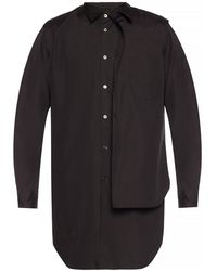 Comme des Garçons Two-tiered Shirt - Black