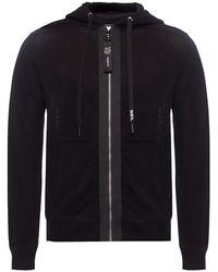 DIESEL Hooded Openwork Sweater - Black