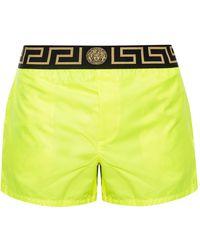 Versace - Greek Key Swim Shorts - Lyst