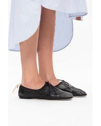 Loewe Leather Derby Shoes - Black