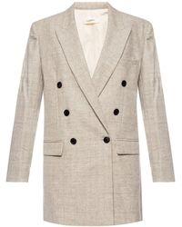 Étoile Isabel Marant Double-breasted Coat Grey