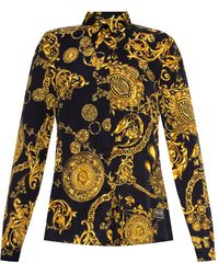 Versace Jeans Couture Baroque-print Shirt - Yellow